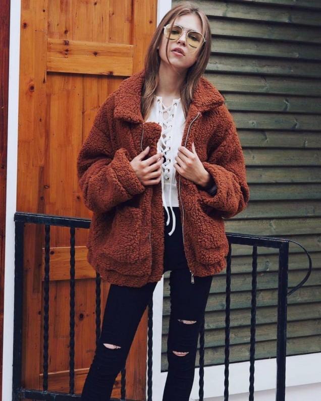 Цветно палто зима 2018