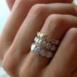 Модерен пръстен в бяло и жълто злато 2018