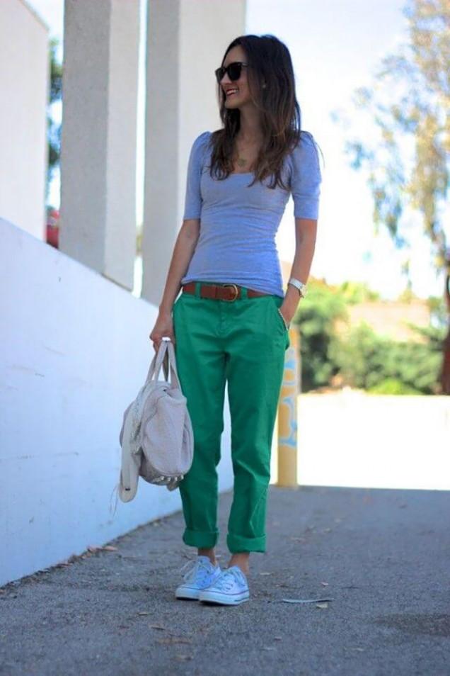 модна комбинация с панталон и блуза