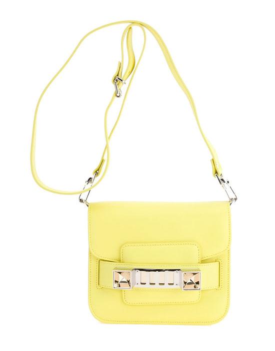 Модерна малка чанта в жълто пролет 2018