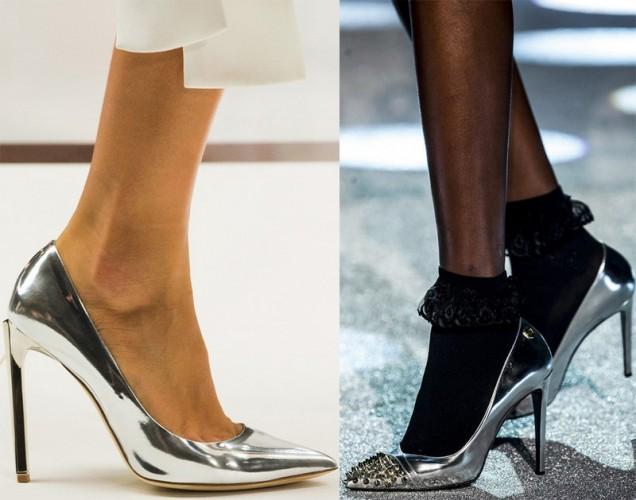 металик обувки 2018