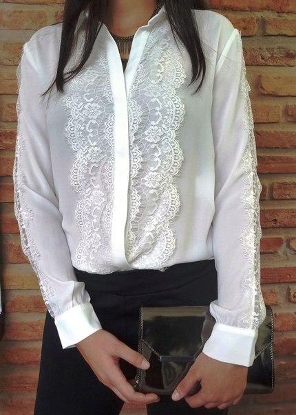 прозрачна бяла риза