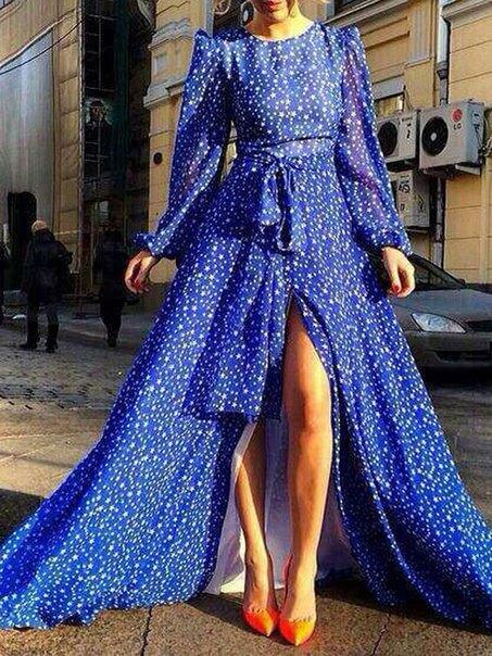 синя рокля 2018